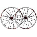 LICHUXIN Oksmsa Ruote MTB 24 Pollici Mountain Bike Set Di Ruote Rilascio Rapido Centro Lega Alluminio Doppio Muro Cerchio Freno A Disco 7 8 9 Velocità (Color : D)