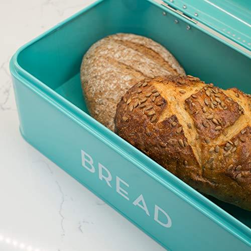 Now Designs 5003496aa Large Bread Bin, Turquoise Blue