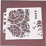 CULER Escudo De Moldes De Plástico Hueco De La Torta Adorno Impresión Regla Reloj De Encaje Pista Álbum De Recortes Plantillas