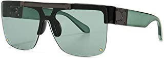 Lunettes de soleil carrées flip up lunettes de soleil pour hommes femmes rétro lunettes de soleil sans monture protection ...