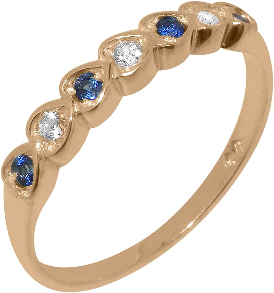 Solid 18k Selling and selling Rose Gold Synthetic Deluxe Cubic Natural Zirconia Sapphire