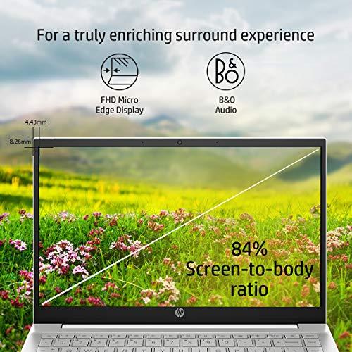 HP Pavilion (2021) Thin & Light 11th Gen Core i5 Laptop, 16 GB RAM, 512GB SSD, Iris Xe Graphics, 14-inch (35.56 cms) FHD Screen, Win 10, MS Office, Backlit Keyboard, Natural Silver (14-dv0054TU)