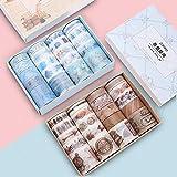 SaiXuan Washi Tapes Set,40 Rollos de Cinta Washi Cinta Adhesiva Decorativa para DIY Manualidades,Diarios,Suministros de fiesta de oficina Set