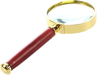 Honmofun 10 Times Magnifying Glass Reading Magnifier Magnified Reading Glasses Diamonds Coins Miniatures Engravings Markings Magnifying Glass for Reading