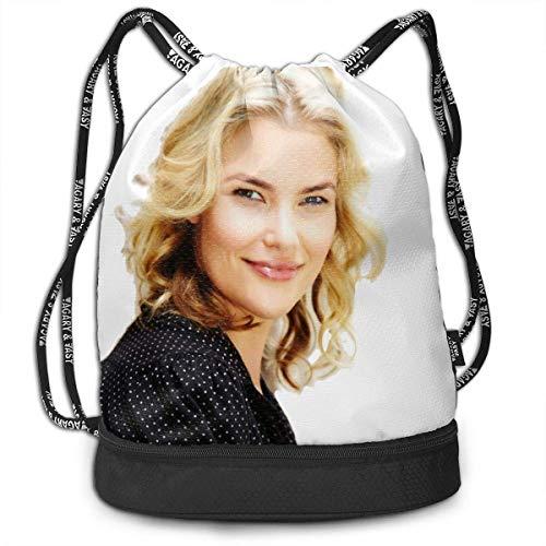 BGDFN Ann Wilson Persönlichkeit Polyester Bundle Rucksack Kordelzug Sporttasche für alle