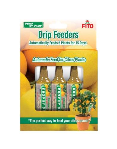 FITO Citrus Plant Drip Feeder,160 ml (5x32ml), Yellow, 13.5x2.8x18.5 cm