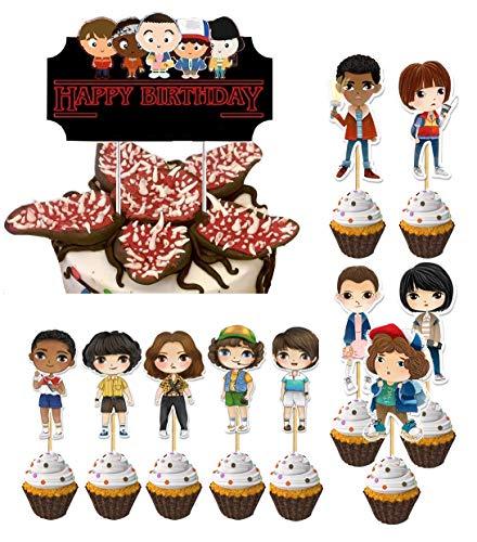 Ginkago Decorazioni Torte Toppers, 11 Pezzi Cake Topper Festa Compleanno Cake Topper per Ragazzi Ragazze Bambini Compleanno