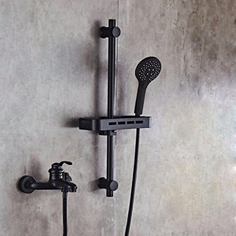NewBorn Faucet Küche Oder Badezimmer Waschbecken Mischbatterie Schwarz Voller Kupfer Einfache Dusche, Dusche Armaturen in die Badewanne Wasser K Tippen