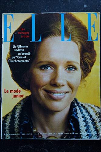 ELLE 1449 24 septembre 1973 Cover Liv ULLMANN Cris et Chuchotements - Robert Charlebois - 218 p. Fashion Vintage