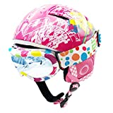 BeBeFun Toddler and Kids Ski Helmet Snowboard Helmet Sled Helmet and Goggles Combo Ultra Lightweight Small Size for 2-6 Years Kids ASTM Certified