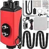 VEVOR Calentador de Aire Diesel 12V 8 kW, Calefacción Estacionaria Diesel Calentador de Estacionamiento Diesel Calefacción Estática Furgoneta Diesel Calentador Coche (Rojo Y Negro)