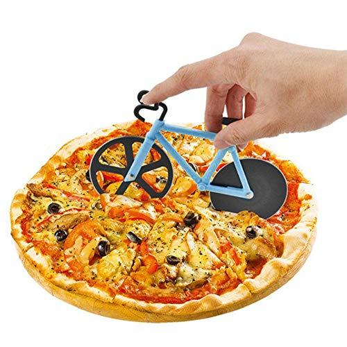 Galapara Fahrrad Pizzaschneider,Pizza Cutter aus Edelstahl Räder, lustiger Pizzaroller mit Schneiderädern aus Edelstahl, Cutter für Pizza & Teig,
