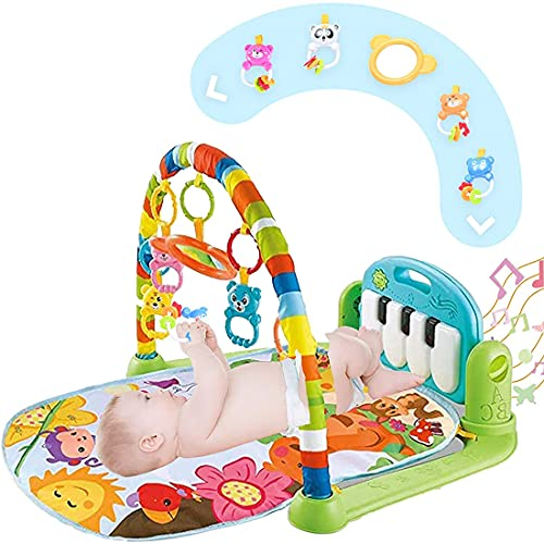 Baby Play Mat Activity Gym with Music and Lights, Baby Gym Activity Center with Colorful Baby Toys, Kick and Play Piano Musical Toys for 0 to 3 6 9 12 Months, Baby Shower