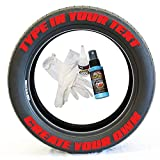 Tire Stickers - Create Your Own Custom Tire Lettering Add-On Accessory - DIY/Easy/Glue & 2oz Touch-Up Cleaner - Custom Sizing/Red (Pack of 8)