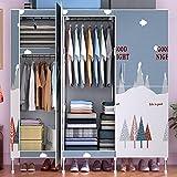 YUXI8541NO Armario portátil para armario, grande, multiusos, organizador portátil, para dormitorio, con puertas, fácil de...