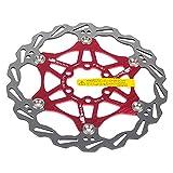 SHHMA Disco de Freno de Disco de Bicicleta, Discos flotantes de Bicicleta de montaña, Pastillas de Freno de Bicicleta, Seis Discos de Freno de uñas, Accesorios de Bicicleta,Rojo,180MM