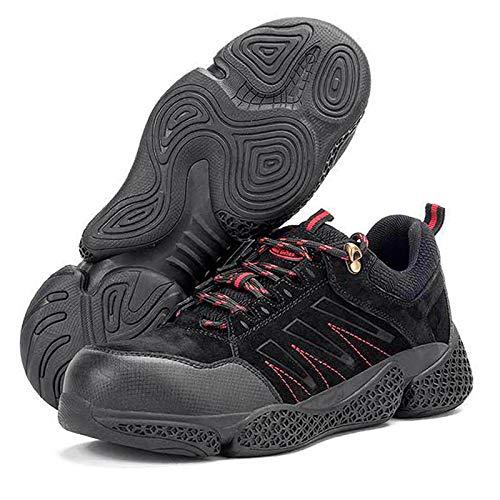 Zapatos de Trabajo,Botas de Seguridad para Hombre con Puntera de AceroTrabajo,Calzado de Industrial y Deportiva,Botas para Hombre De Seguridad,Senderismo Plantilla De Protección Unisex-Adulto