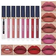 7Pcs Matte Liquid Lipstick + 1Pcs Lip Plumper Makeup Set Kit, Long Lasting Waterproof Velvet Lip Glo...
