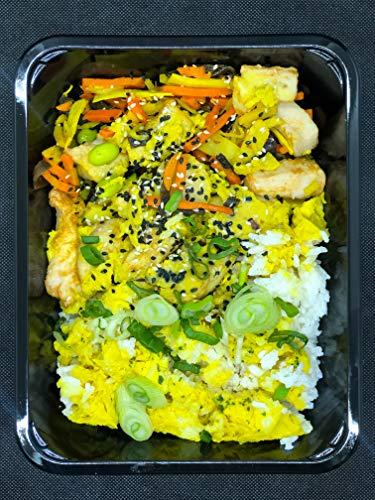 Season Family Fertiggericht Curry Chicken mit buntem Gemüse und Jasminreis als Fitness Essen I Fertiggerichte für Mikrowelle oder Pfanne unter Schutzgasatmosphäre verpackt I Inhalt 450 g