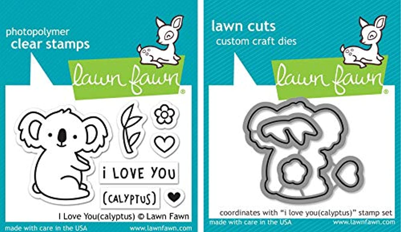 Lawn Fawn I Love You(calyptus) Stamp & Die Set - 2 Item Bundle