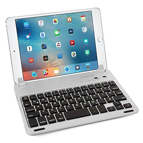 Caseflex Ultra Dünn Bluetooth Tastatur mit magnetischer Halterung & verstellbarem Haltstand Kompatibel Für iPad Mini, Mini 2 & Mini 3
