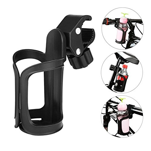 Leezo Bike Handlebar Cup Holder 60 Degree Rotating Bike Water Bottle Cage for Bicycles, Mountain Bikes, Baby Strollers and Wheelchair