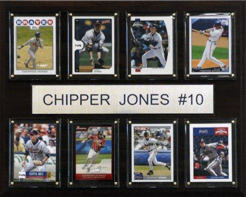MLB Chipper Jones Atlanta Braves 8 Card Plaque Chipper Jones Atlanta Braves Baseball