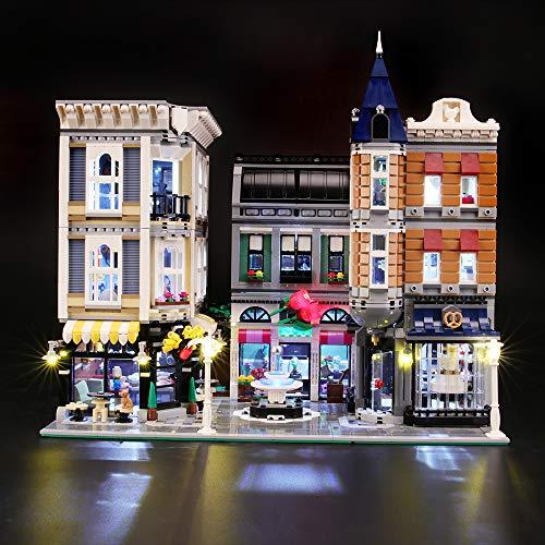 BRIKSMAX Led Beleuchtungsset für Lego Creator Assembly Square, Kompatibel Mit Lego 10255 Bausteinen Modell - Ohne Lego Set
