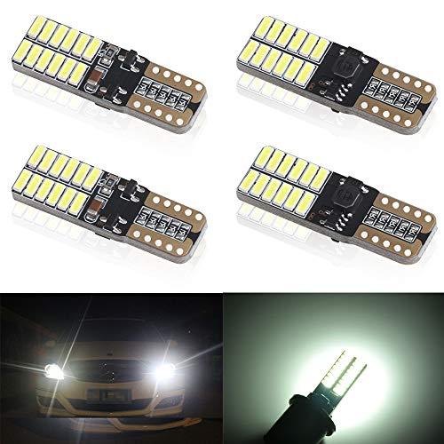 4 unids T10 W5W 168 194 501 LED Bulbs 24 leds 4014SMD...