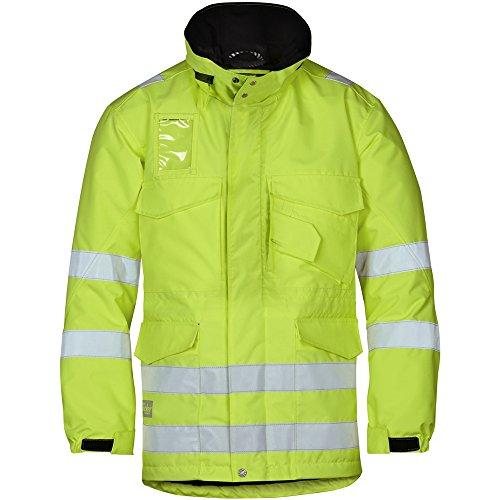Snickers 18236600007 Parka d'hiver haute visibilité Classe 3 Taille XL jaune
