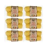 HUERCASA - Mazorcas de Maíz Dulce Orgánicas Cocidas al Vapor. Pack de 6 Envases. Sin Gluten, Vegano. Envasado al Vacío. Listo para Comer