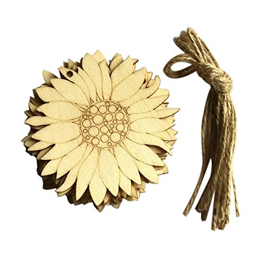 Easter Decoration, Animal Flower Pattern Wooden Hanging Pendant Home Garden Door Shop Decor Outdoor Activity Sign Craft(Sunflower)