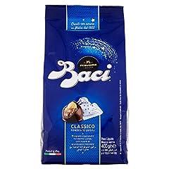 Idea Regalo - BACI PERUGINA CLASSICO Cioccolatini fondenti ripieni al gianduia e nocciola intera sacchetto 400g