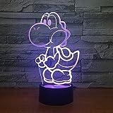 Chien Veilleuse LED 3D Illusion 7 Couleur Dressing Décoration Lumière Enfant Enfant Bébé Kit Lampe De Table Lit Tête 3 Aucun Contrôleur
