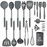 Silicone Cooking Utensils Set, Kitchen Utensils 31pcs Cooking Utensils Set, Heat Resistant Non-stick...