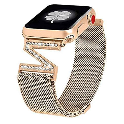 Bandas de Metal de Acero Inoxidable compatibles con Apple Watch 38 mm / 40 mm 42 mm / 44 mm Eslabón de reemplazo de Correa para Iwatch Series 6 / SE / 5/4/3/2/1,Oro,44mm