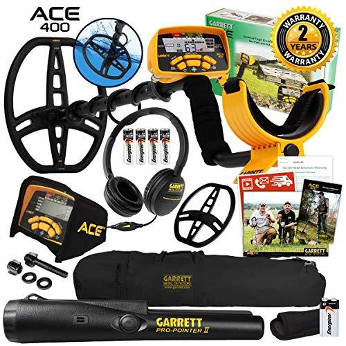 Garrett ACE 400 Metal Detector with Waterproof Coil Pro-Pointer II and Carry Bag Detectors Metal