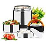 Vacuum Lunch Container Stainless Steel, Food Thermos Lunch Box Container Jar, Double Insulated Food...
