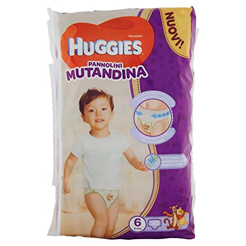 Huggies Pañal braguita, talla 6 (15-25 kg), 1 paquete de 30 unidades