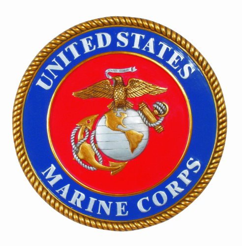 Spoontiques - Garden Décor - U.S. Marines Stepping Stone - Decorative Stone for Garden