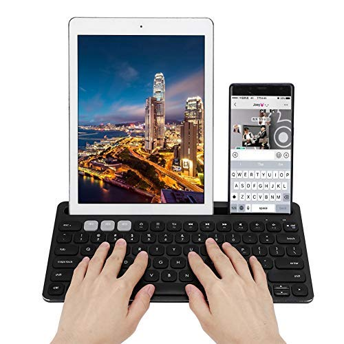 Bluetooth Keyboard, Universal Multi-Function Portable Business Office Bluetooth Business Keyboard for Computer Phone Tablet(Black)