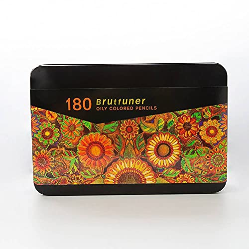 Brutfuner - 180 lápices de colores a base de aceite