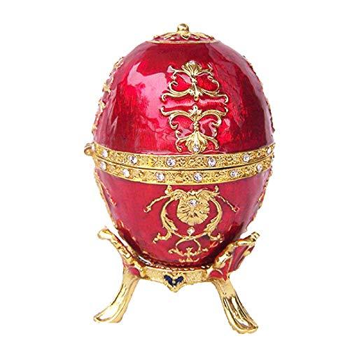 YIYYI Schmuckkästen, Osterei Faberge Schmuck Schmuckkästchen Vintage Dekoration Weddinmetal Crafts Geburtstagsgeschenk