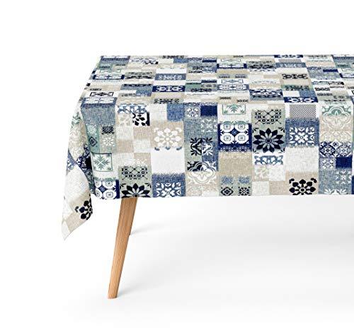 Basic Home Mantel Antimanchas Dakota Azul 140x200 cm