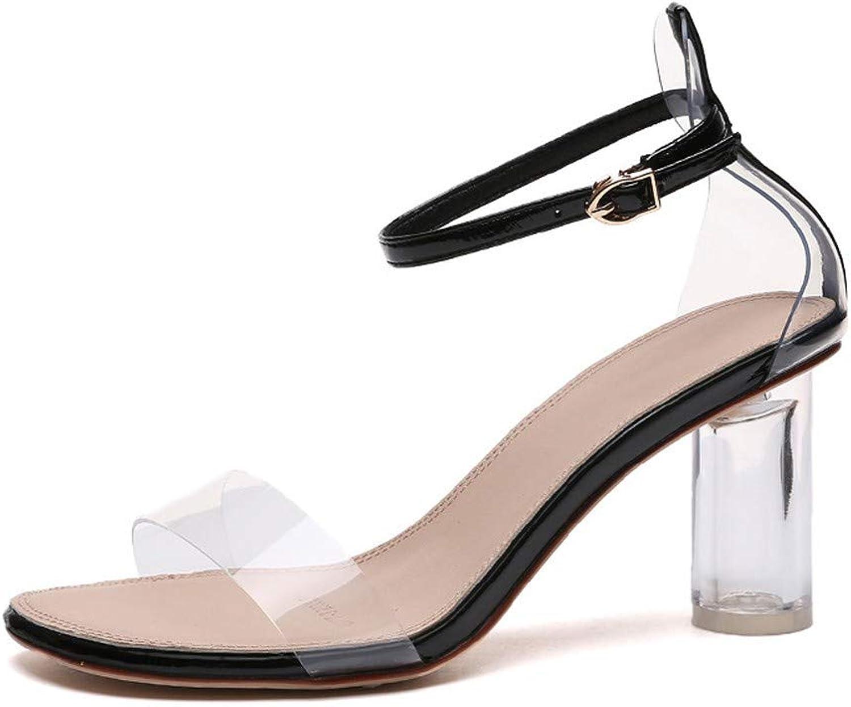 Sandalen Europa und die Vereinigten Staaten Frauen künstliche PU Mode 8cm Frühling High Heels transparent Kristall dick mit  | Ausgezeichnetes Preis  | Deutsche Outlets  | Merkwürdige Form