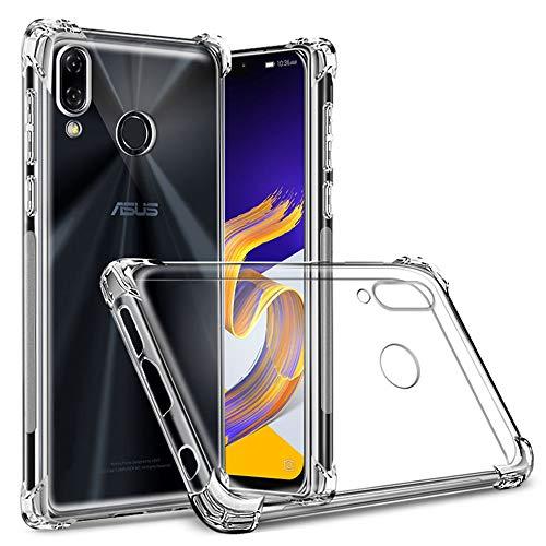 ykooe Handyhülle für ASUS Zenfone 5 ZE620KL Hülle,ASUS Zenfone 5Z Hülle,Crystal Clear Handy Schutzhülle für ASUS Zenfone 5 / 5Z Case TPU Bumper - Transparent