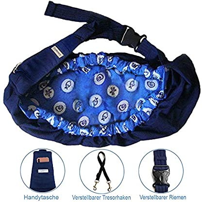 OrgMemory Carrier Soft-Sided Pet Carrier, Hands-Free Adjustable Sling Bag, Small Dogs/Cats Outdoor Shoulder Carry Bag 4