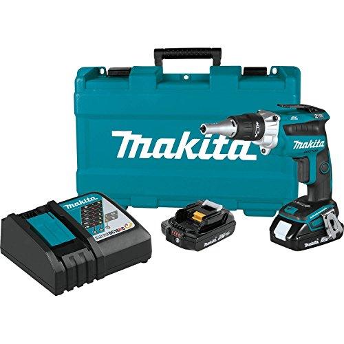 Makita XSF04R 18V LXT Lithium-Ion COMPACT Brushless Cordless 2, 500 Rpm Drywall Screwdriver Kit (2.0Ah)