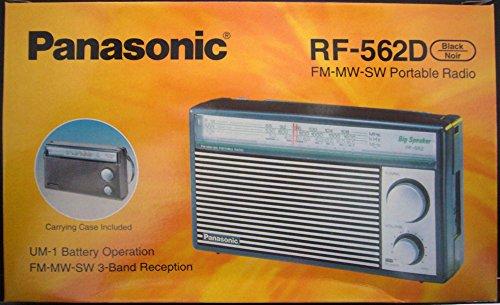 Panasonic RF-562DD FM/MW/SW 3 Band Battery Operated Radio (Black)