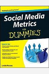 Social Media Metrics For Dummies Paperback
